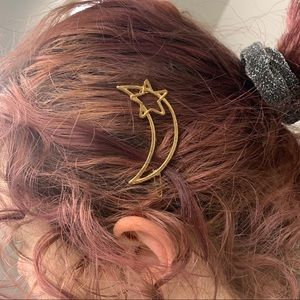Gold Astrology Hair Clips
